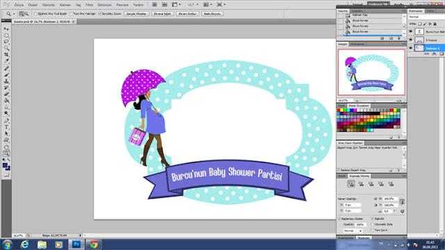 babyshower grafik etiket tasarımları