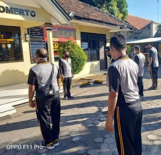 Sabtu Sehat,Polsek Wonomerto Melakukan Olahraga Pagi