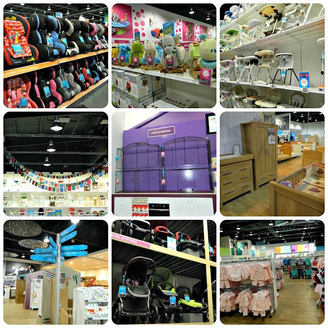 Kiddicare Aintree baby supplies store departments