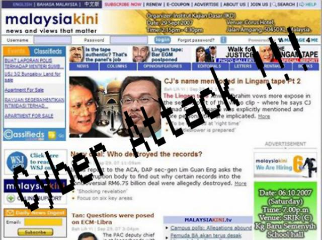 Malaysiakini - Malaysia's Most Popular News Website Shutdown's after cyber attack !