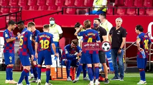 موعد مباراة برشلونه واشبيلية الدوري الاسباني