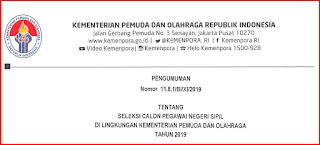 CPNS Kemenpora tahun 2019
