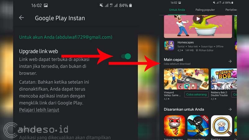 Game Instan Google Play Store