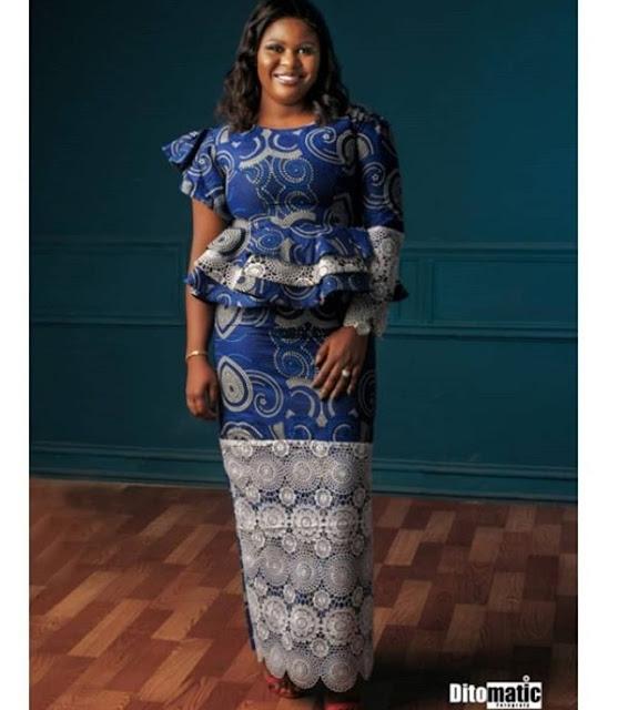 Asoebi Styles With Lace and Ankara