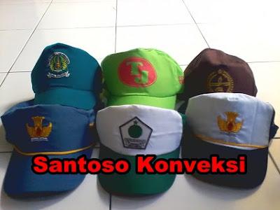 Jual murah topi seragam sekolah SMP dan SMA Bordir