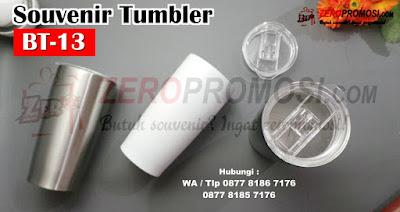 Tumbler BT-13, Souvenir Tumbler BT-07 tutup bening, Souvenir Tumbler Stainless Custom BT-13