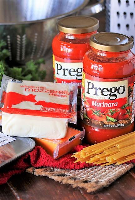 Baked Spaghetti Ingredients Image