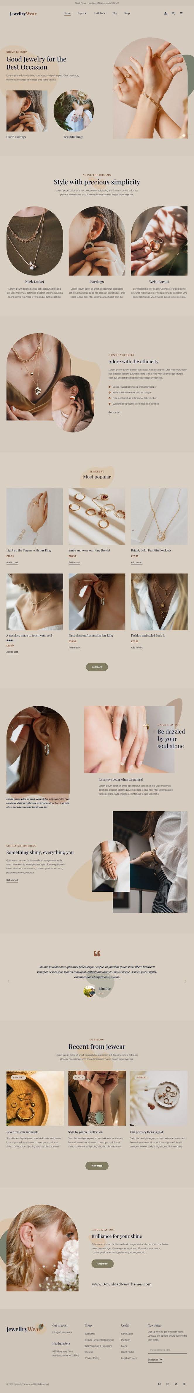 Jewellery Store Elementor Template kit