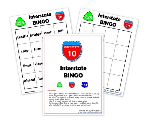 Interstate BINGO Pack {for K-2nd grade}