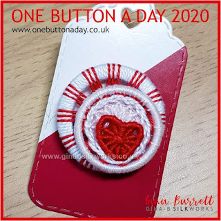 One Button a Day 2020 by Gina Barrett - Day 45: Be Mine