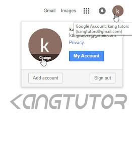 cara mengganti photo profil email