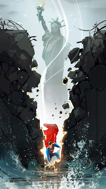 superman fan art wallpaper 1080 x 1920 pixels