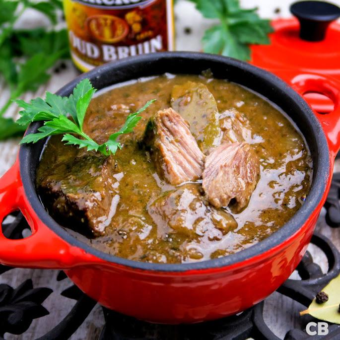 Recept Wildstoofpotje met oud bruin bier