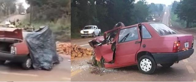 Puerto Esperanza:Grave accidente en la intersección de la Ruta Nacional N° 12