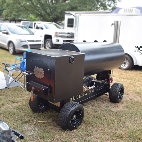 Outlaw BBQ Smokers offset smoker at 2019 Praise The Lard BBQ Contest