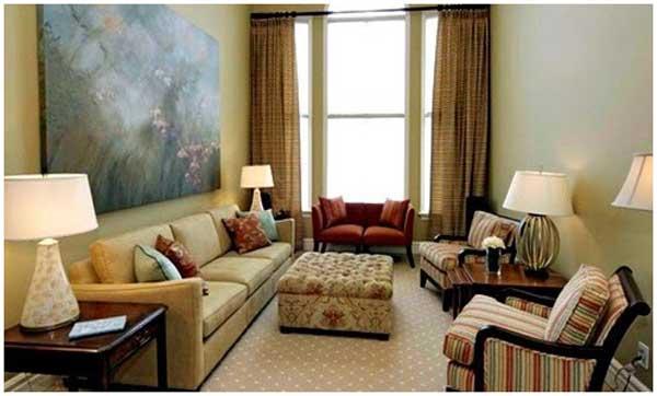 desain interior warna cat ruang tamu krem