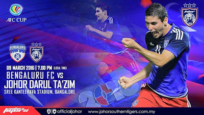 Live streaming JDT Vs bengaluru FC 9.3.2016