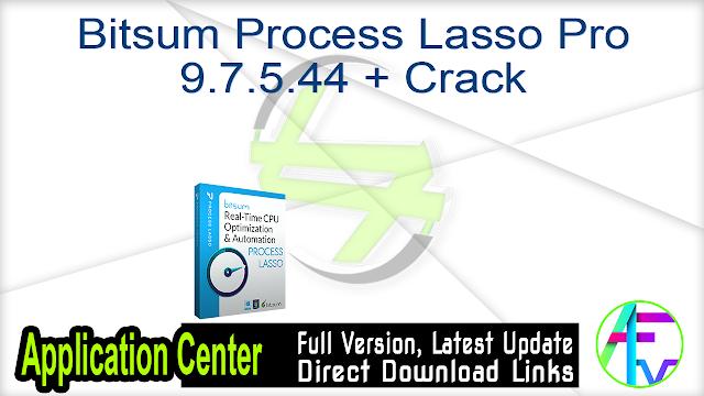 Bitsum Process Lasso Pro 9.7.5.44 + Crack