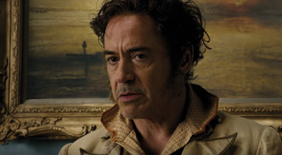 "Robert Downey Jr. questions his life choices after playing Dr. John Dolittle in Universal's ""Dolittle"" (2020)."