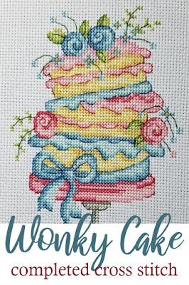 Finished Wonky Layer Cake Cross Stitch