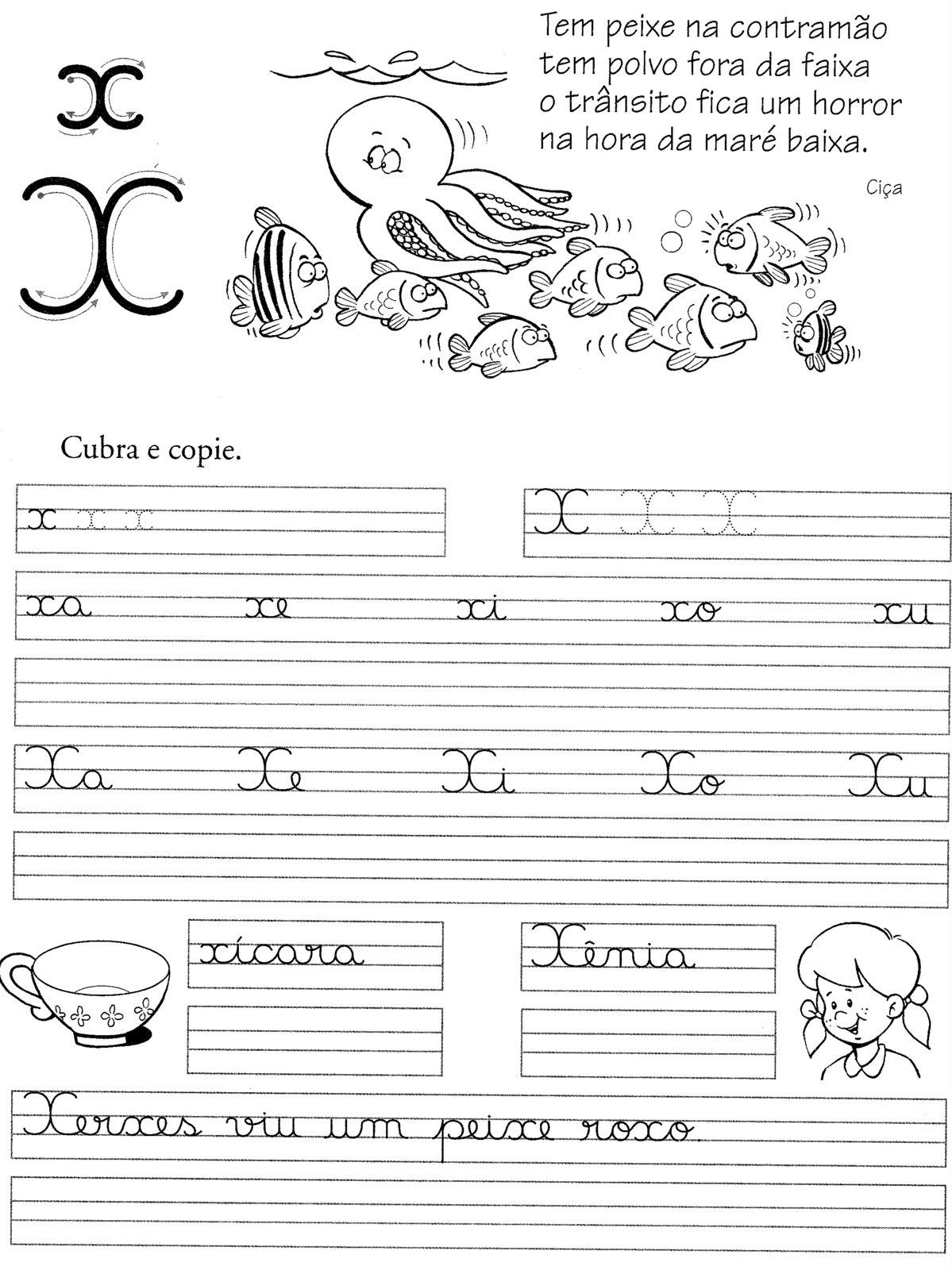 Atividades Aprender Escrever com Letra Cursiva – Alfabetização Infantil