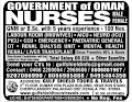 MALE AND FEMALE STAFF NURSE VACANCY IN GOVERNMENT OF OMAN - OMAN MOH 2019
