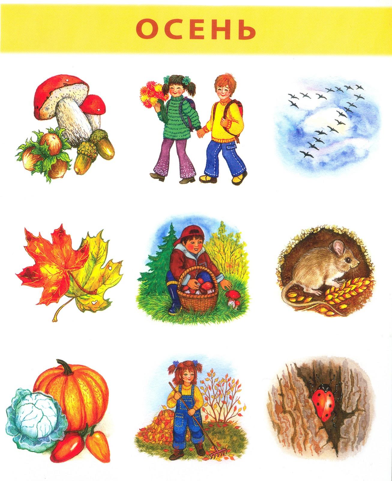 приметы осени для детей в картинках