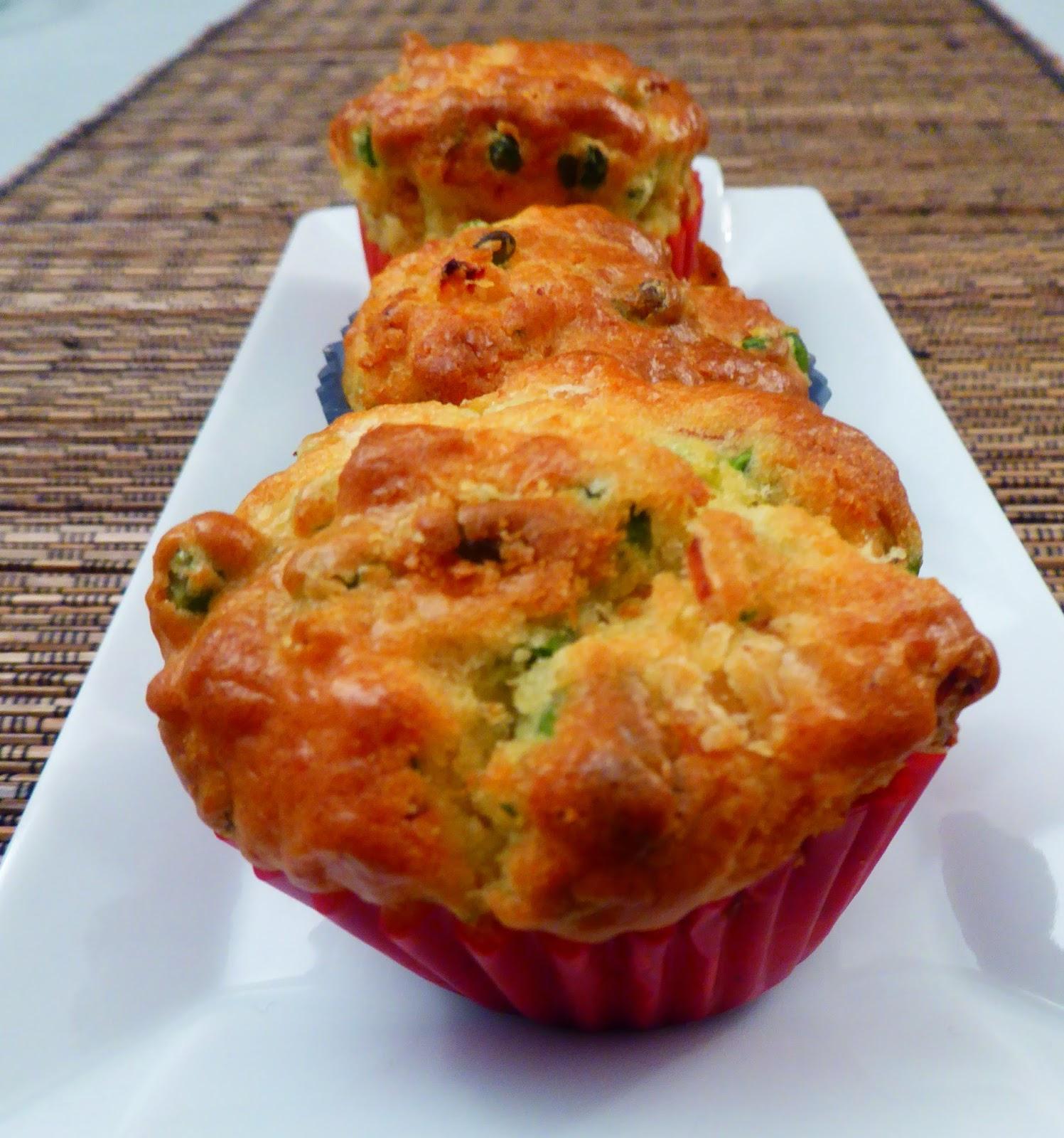 Muffin piselli e formaggi