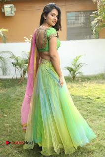 Actress Nikitha Bisht Stills in Lehenga Choli at Pochampally Ikat Art Mela Launch  0362.JPG