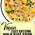 Vegan Cozy Autumn Wild Rice Soup