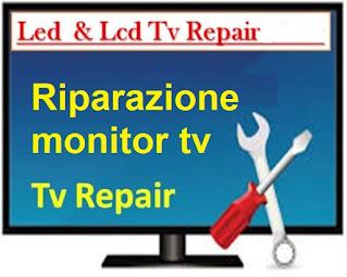 riparazione monitor TV