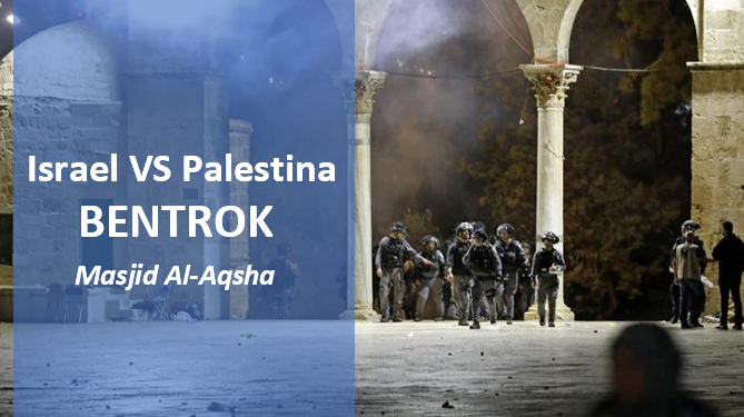 Polisi Israel - Warga Palestina Bentrok di Masjid Al-Aqsha, 178 Warga Luka-luka