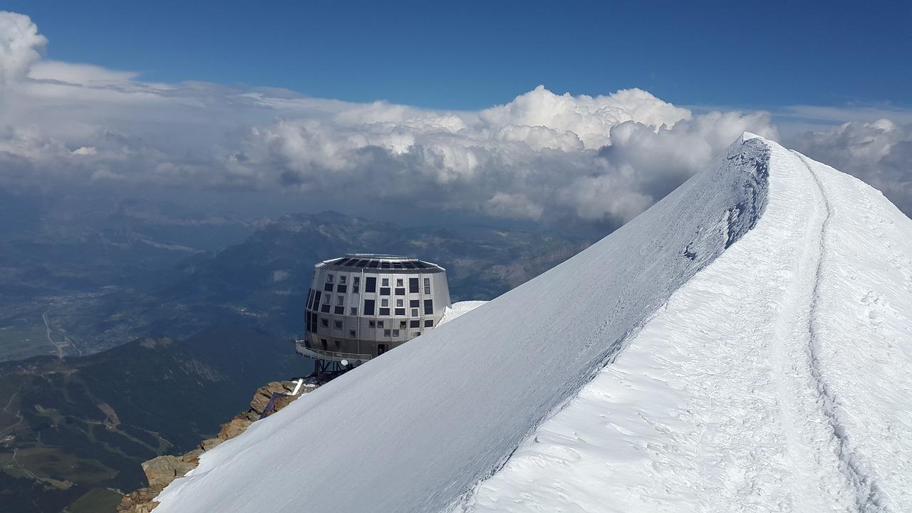 Refuge du Goûter sur les pentes du Mont-Blanc