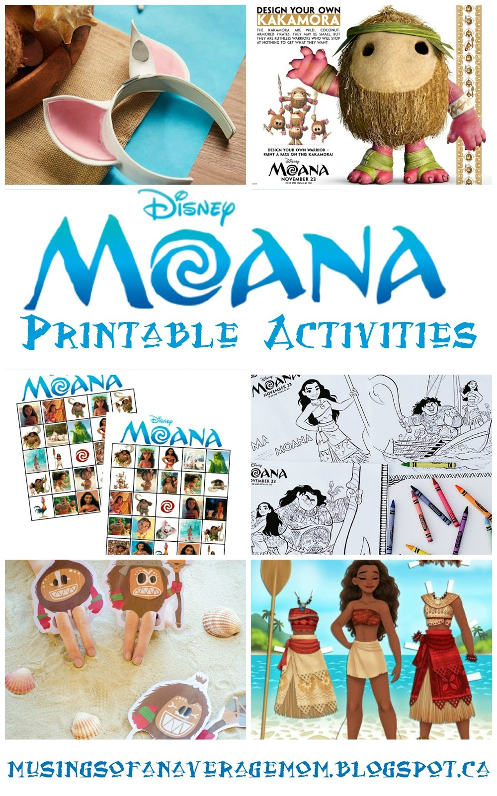 graphic regarding Kakamora Printable known as Musings of an Normal Mother: Moana Printables
