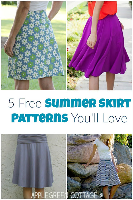 Easy skirts to make this summer. These free skirt tutorials are all beginner sewing projects and include a free pattern. Yep, free! Check them out and try to decide which of these adorable skirts would fit you best. You might even discover your all-time favorite summer skirt pattern!