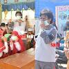 Ketua  Forkom Kec Sehat dan Camat Bagi Masker Bersama TIM Peduli Manggala
