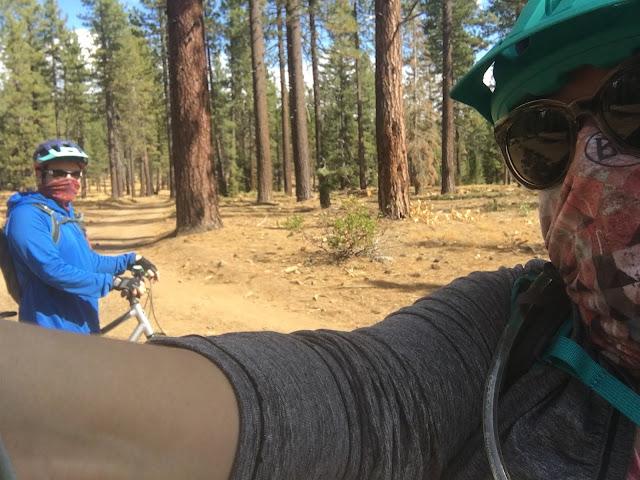 mountain bike trail selfie