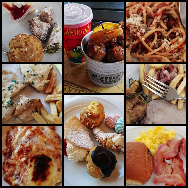 Collage of food from Gardaland
