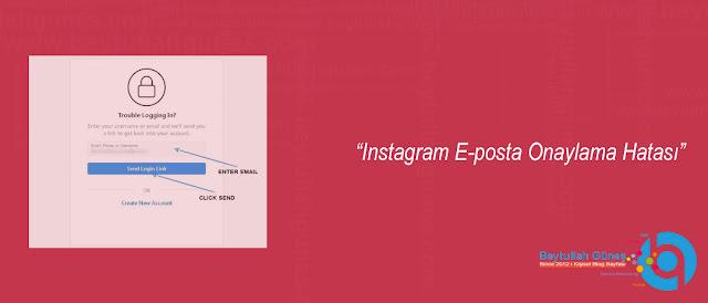 Instagram E-posta Onaylama Hatası