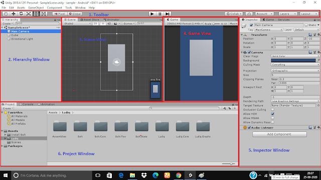 unity editor interface