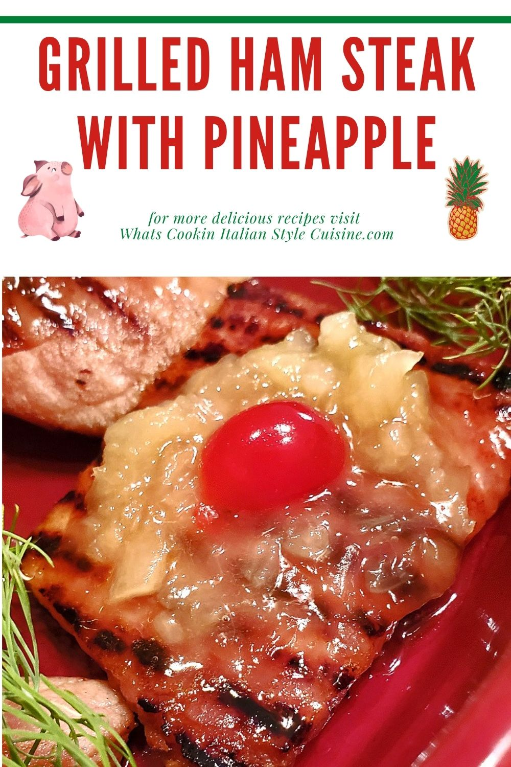 this is a pin for later on how to make ham steaks with pineapple topping