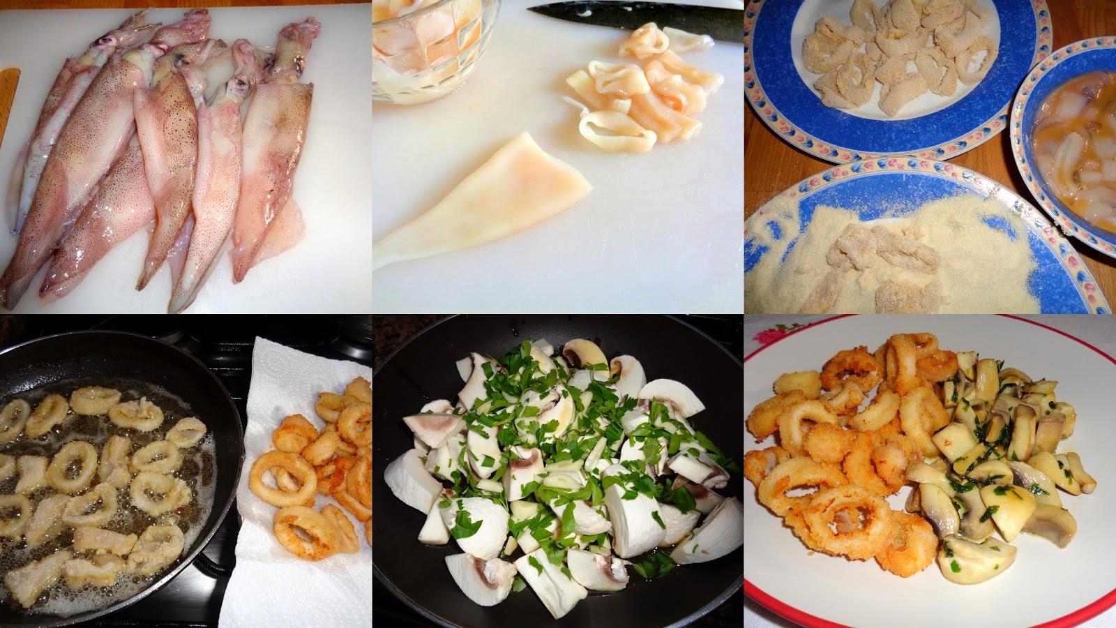Recetas de mi madre y mias calamares rebozados con - Limpiar calamares pequenos ...