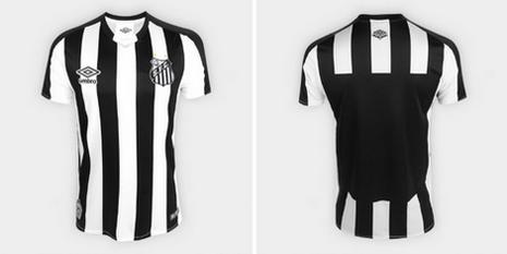 85835bf03 La maglia Santos FC poco prezzo 2019 2020 Seconda utilizza lo stesso  modello che abbiamo visto sulle magliette Cruzeiro, con canne bianche e  nere che ...