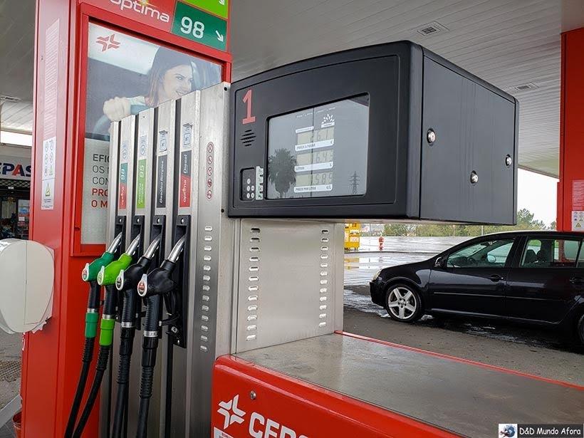 Posto de combustível em Portugal - Dirigir em Portugal