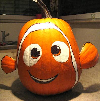nemo cute easy DIY no carve halloween pumpkin