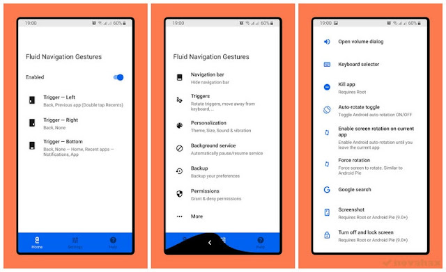 Fluid navigation gestures unreleased apk