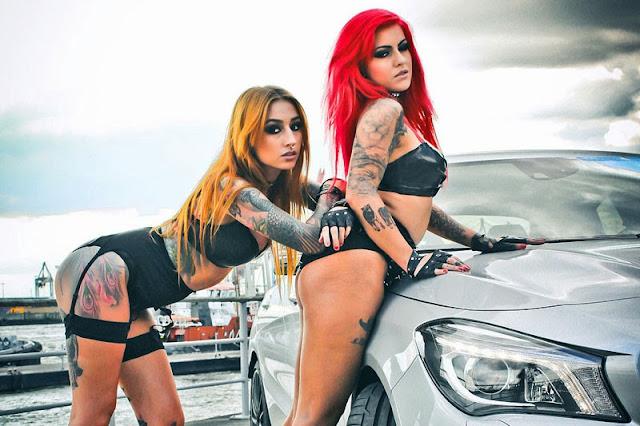 Mercedes Benz CLA45 AMG và hai người đẹp cá tính 03