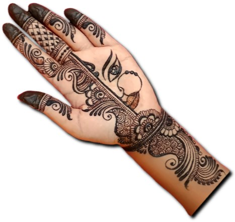 Dulhan Mehndi Design for Front Hand