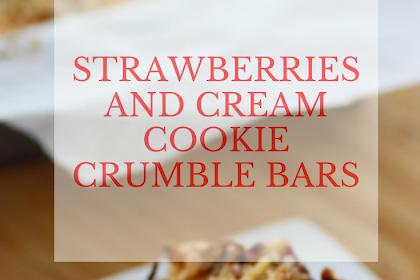STRAWBERRIES AND CREAM COOKIE CRUMBLE BARS