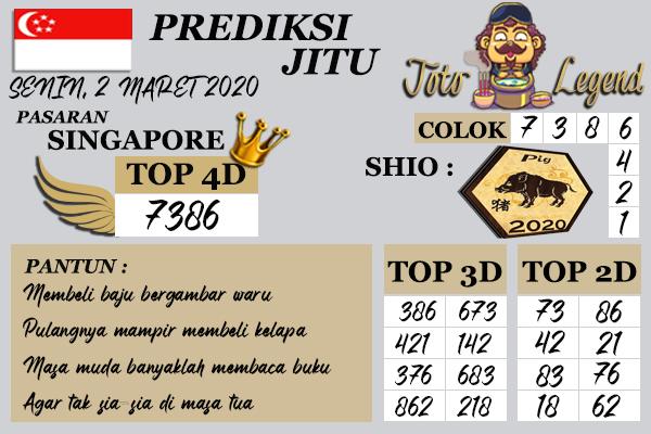 Prediksi Togel JP Singapura 02 Maret 2020 - Prediksi Toto Legend